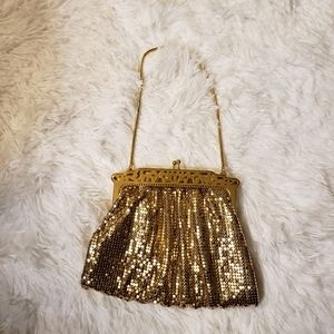 Whiting and Davis Co Vintage Gold Mesh Bag